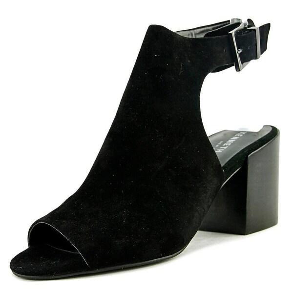 Kenneth Cole NY Val Women Open-Toe Suede Black Slingback Sandal