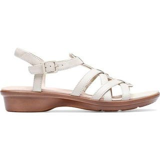 3f71efc0a4ac Clarks Womens Deloria Ivy Wedge Sandals Leather Block - 7 Medium (B
