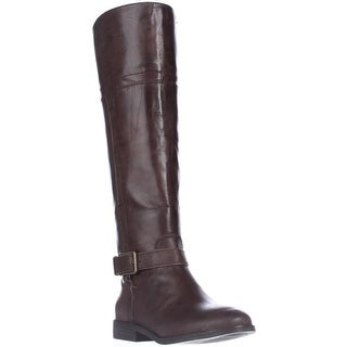 Marc Fisher Aysha Knee-High Riding Boots, Dark Brown Leather - 5.5 us