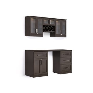 """NewAge Products Home Bar Series 72""""W x 25""""D 6 PC Shaker Style"""