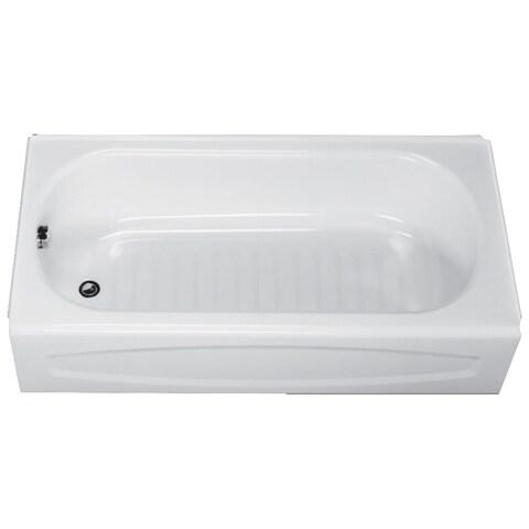 "American Standard 255.212 New Salem 60"" Enameled Steel Soaking Bathtub with Left Hand Drain"
