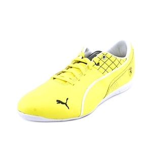 Puma Drift Cat 6 SF Flash Men Round Toe Leather Yellow Sneakers