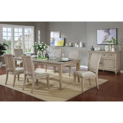 Furniture of America Frez Transitional Brown Solid Wood Dining Set