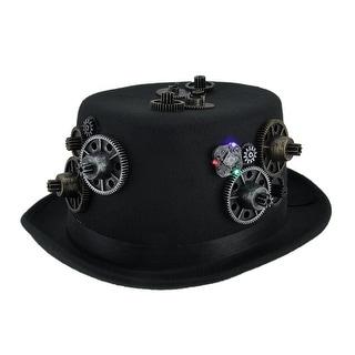 Head Gear LED Light Up Steampunk Top Hat