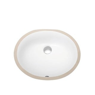 Dawn Under Counter Oval Ceramic Basin with Overflow, White