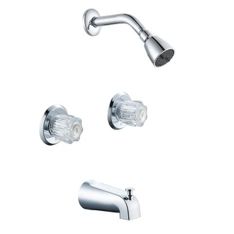 Jones Stephens 1854015 Contractor's Choice Tub and Shower Trim Package with 1.8 GPM Single Function Shower Head - Chrome Plated