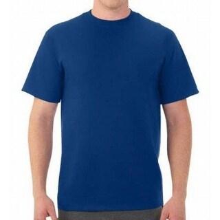 Fruit of the Loom NEW Blue Mens Size 3XL Crewneck Short-Sleeve Tee T-Shirt 294