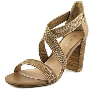 Charles By Charles David Emily Women Open Toe Canvas Tan Sandals