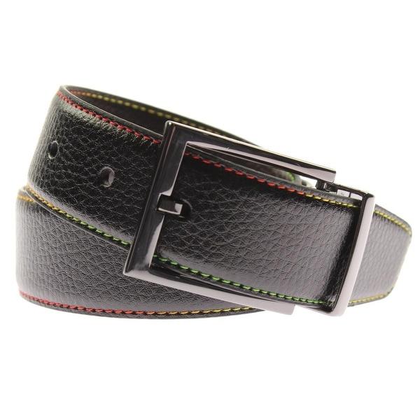 Robert Graham Mens Summerland Casual Belt Faux Leather Reversible