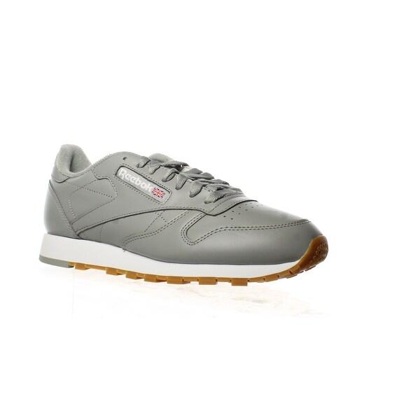 Shop Reebok Mens Classic Leather Gray