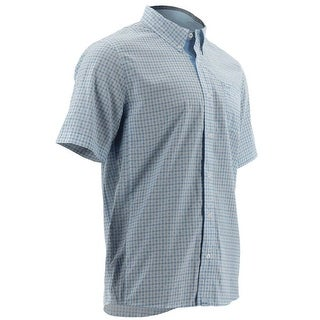 Huk Men's Santiago Ice Blue Medium Short Sleeve Shirt