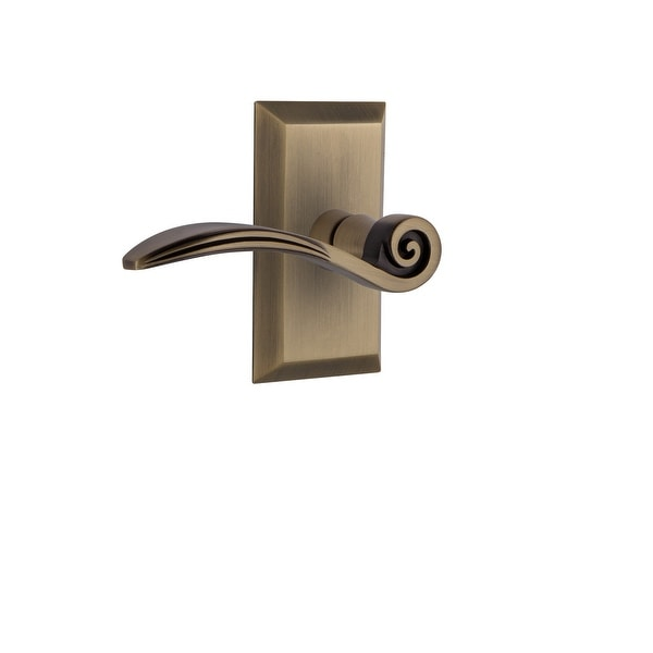Nostalgic Warehouse STUSWN_SD_NK_RH Swan Non-Turning One-Sided Door Lever with Studio Rose