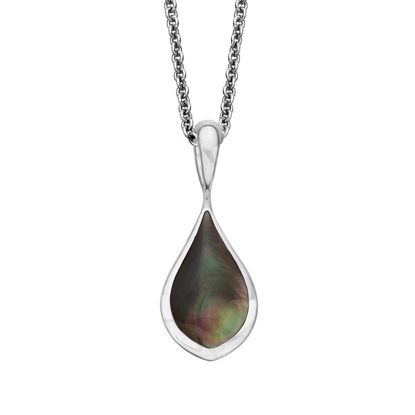 Kabana Black Mother-of-Pearl Pendant in Sterling Silver