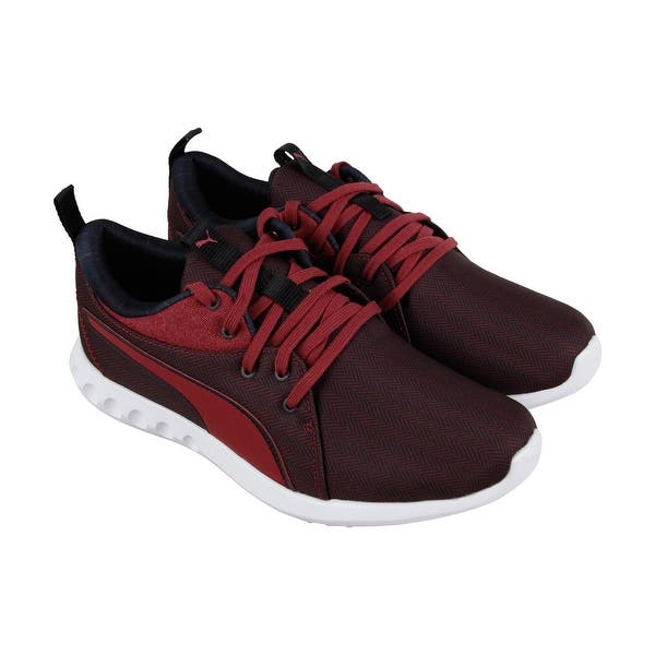 80db59ecee8 Puma Carson 2 Menswear Mens Red Textile Athletic Lace Up Running Shoes ...