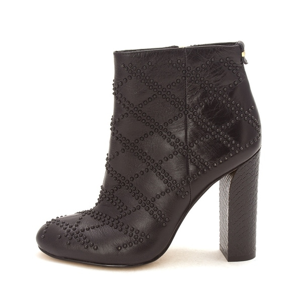 Calvin Klein Womens Jamine Crackled Leather Closed Toe Ankle Fashion Boots