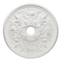 """Westinghouse 7775400 28"""" Ceiling Medallion from the Cape May Collection - White - N/A"""