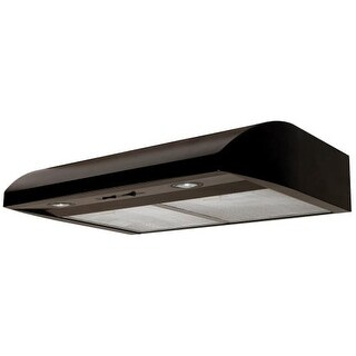 Air King AB30 250 CFM 30 Inch Wide Under Cabinet Range Hood with Dual Halogen Lighting and Aluminum Mesh Filters from the