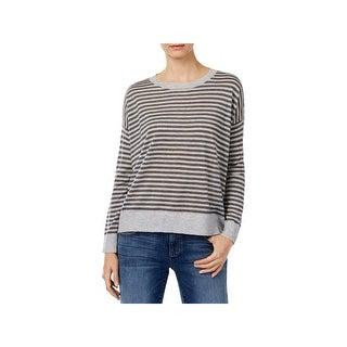 Eileen Fisher Womens Pullover Sweater Alpaca Striped