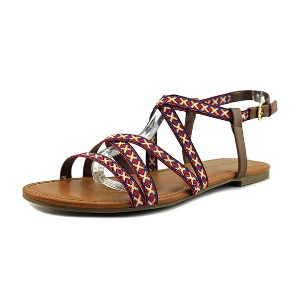 Indigo Rd. Camrie Women Open Toe Canvas Multi Color Gladiator Sandal