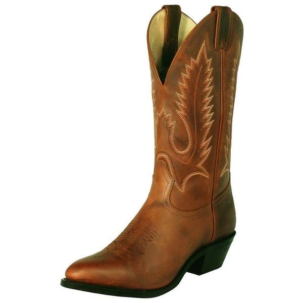 Boulet Western Boots Mens Cowboy Challenger Hill Billy Golden