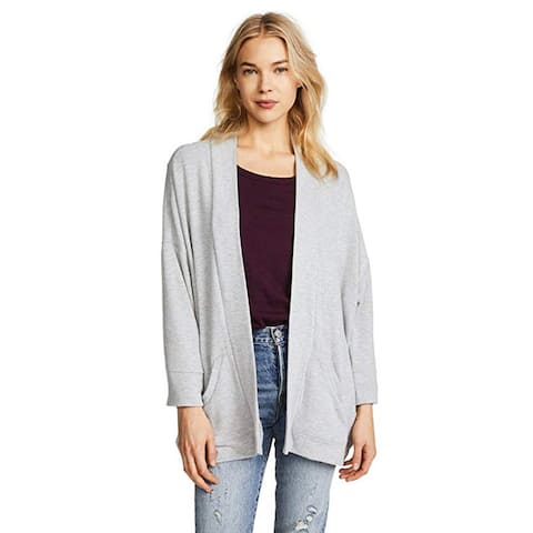 BB Dakota Women's Hacci Kimono Jacket, Heather Grey, Small
