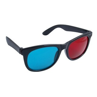 Anaglyph Moive Games Red Cyan Lens Blk Frame 3D-Glasses
