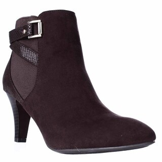KS35 Majar Back Strapped Ankle Booties, Brown