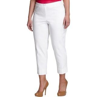 Karen Kane Womens Plus Dress Pants Side Slit Capri