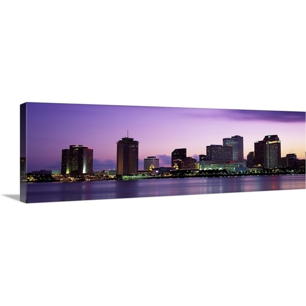 Premium Thick Wrap Canvas Enled Dusk Skyline New Orleans La Multi Color