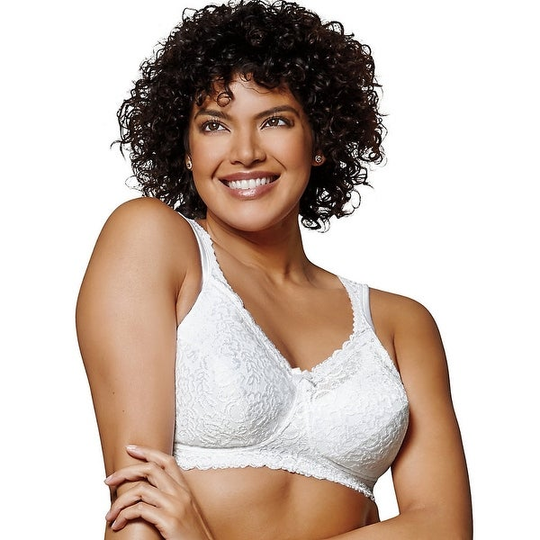 3c83398c2ddd4 Playtex 18 Hour Comfort Lace Wirefree Bra - Size - 44DDD - Color - White