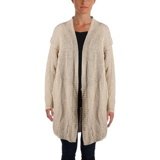 Lauren Ralph Lauren Womens Petites Cardigan Sweater Knit Ribbed Trim