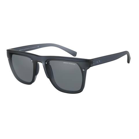 Armani Exchange AX4098S 83176G 63 Matte Blue Man Square Sunglasses