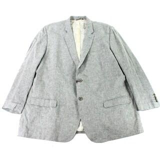 Tasso Elba NEW Light Gray Mens Size 3X Textured Two--Button Jacket|https://ak1.ostkcdn.com/images/products/is/images/direct/a665b8059f4d15313b3d289e629a6874e19ab199/Tasso-Elba-NEW-Light-Gray-Mens-Size-3X-Textured-Two--Button-Jacket.jpg?_ostk_perf_=percv&impolicy=medium