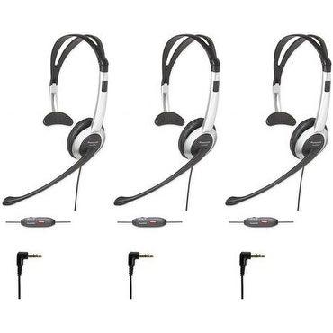 Panasonic KX-TCA430 (3 Pack) Telephone Headset w/ Noise Cancelation Mic Volume Control