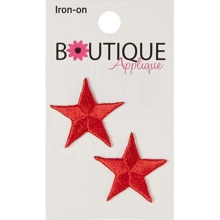 Red Stars 2/Pkg - Iron-On Appliques