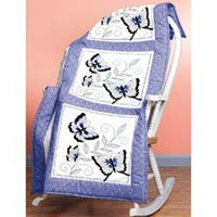 """Butterfly - Stamped Embroidery Quilt Blocks 18""""X18"""" 6/Pkg"""