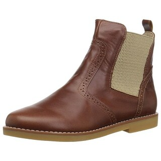 Kids Elephantito Girls Bootie Leather Ankle Pull On Chelsea Boots