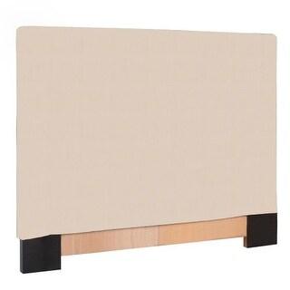 Howard Elliott Sterling Sand Slipcovered Headboard Sand 100% Polyester Upholstery Headboard