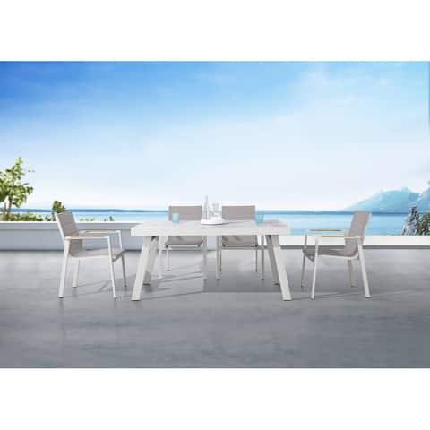 Pasargad Home Laguna Outdoor 7 Piece Contemporary Dining Set