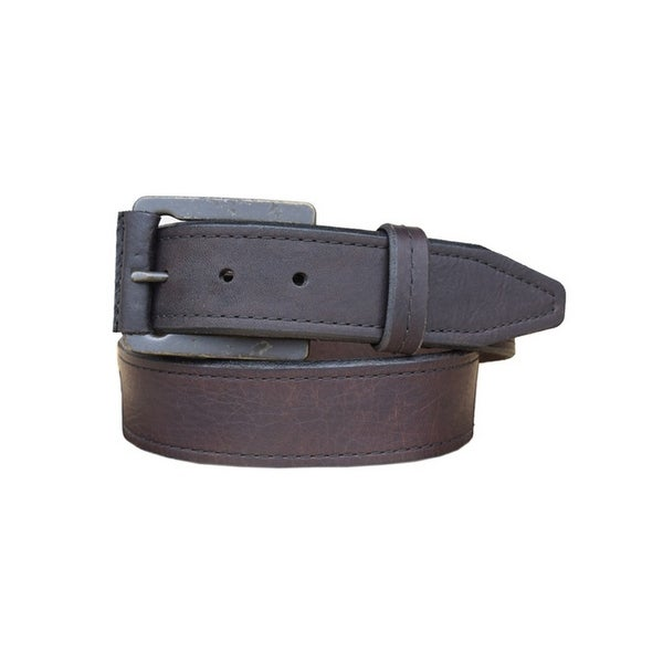 Vintage Bison Western Belt Mens Carson Leather Chocolate