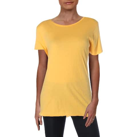 Michelle by Comune Womens T-Shirt Unhemmed Boat Neck