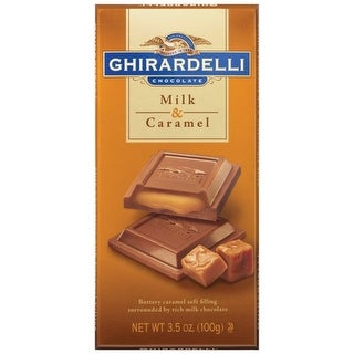 Ghirardelli Chocolate Milk Chocolate & Caramel 3.5 Oz (Pack of 12)