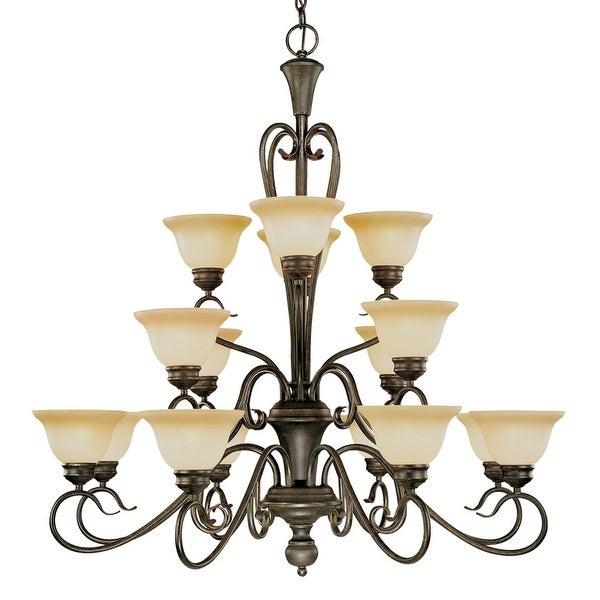 Millennium Lighting 6016 Devonshire 16-Light Three Tier Chandelier - Burnished Gold