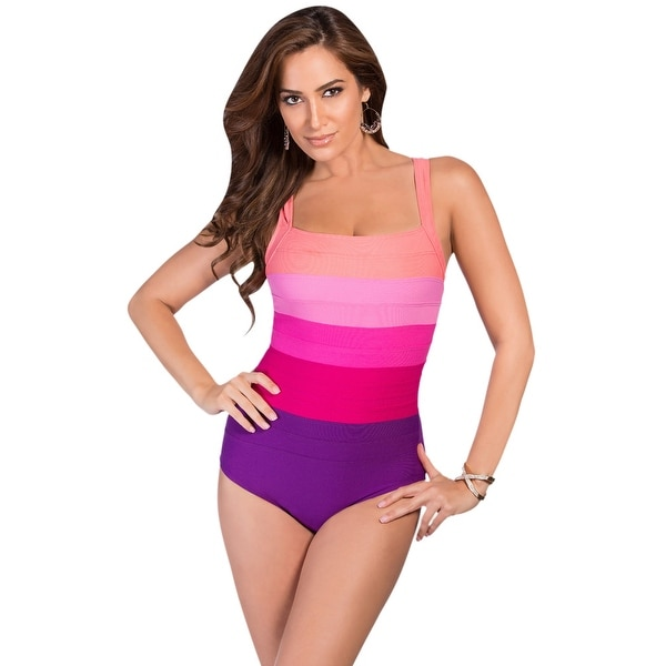 2499405c6f8 Shop Miraclesuit Fuchsia Spectra Square Neck Underwire One Piece Swimsuit -  Purple - Free Shipping Today - Overstock - 17761541