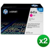 HP 641A Magenta Original LaserJet Toner Cartridge (C9723A)(2-Pack)