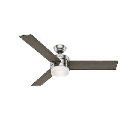 """Hunter 54"""" Exeter Ceiling Fan with LED Light Kit and Remote Control"""