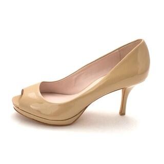 Vince Camuto Womens Kendall Leather Peep Toe Platform Pumps