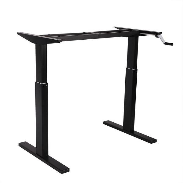 Vivo Manual Crank Height Adjustable Standing Desk Manual Guide
