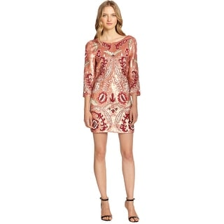 Needle & ThreadTapestry Motif Beaded Sequined 3/4 Sleeve Cocktail Dress - 4
