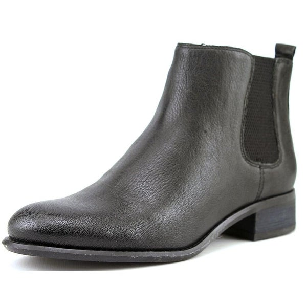 Nine West Jara Women Round Toe Leather Black Bootie